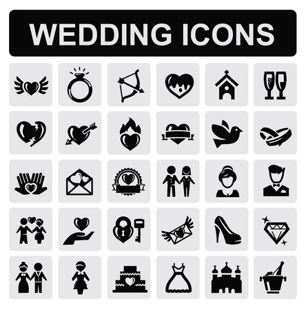 wedding icons Vector
