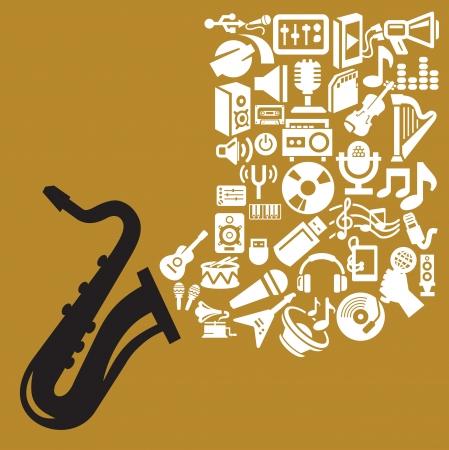 music theme Stock Vector - 16976349