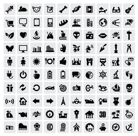 100 web icons Stock Vector - 17012223