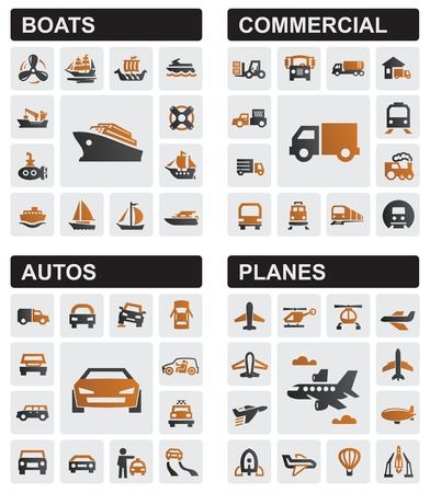 cargo plane: transport icons