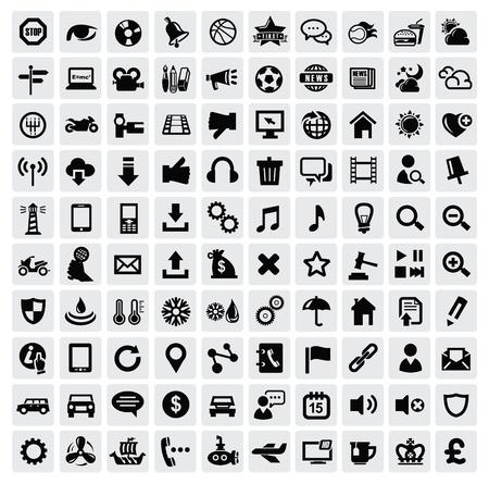 internet cafe: 100 iconos web