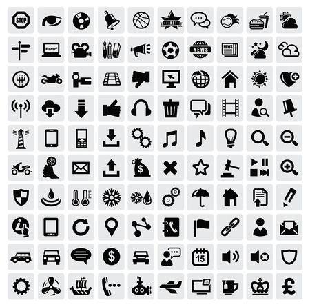 computer graphic design: 100 web icons