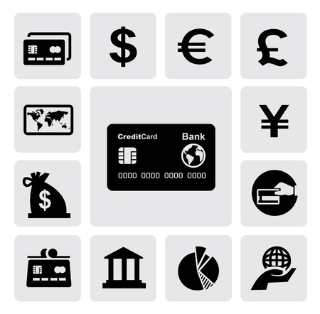 debit cards: credit card Illustration