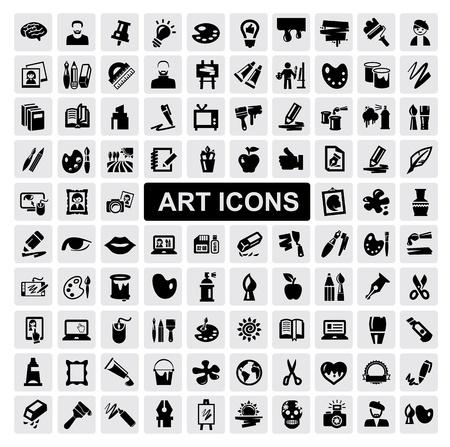 creative tools: Icone d'arte impostare