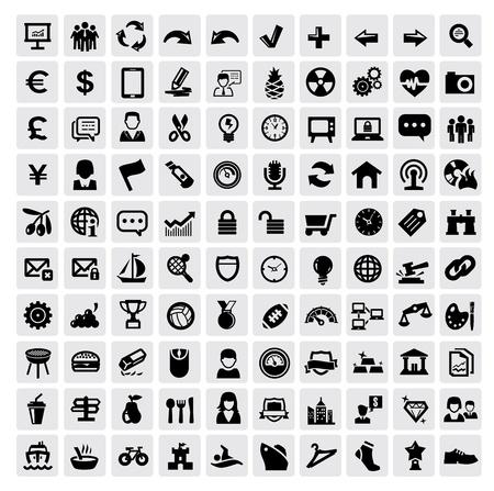 energy market: 100 web icons