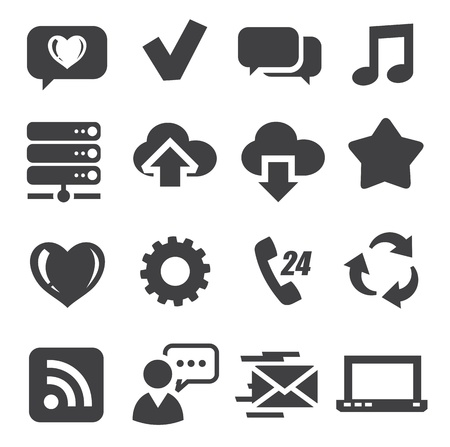 web and communication icons Stock Vector - 17034807