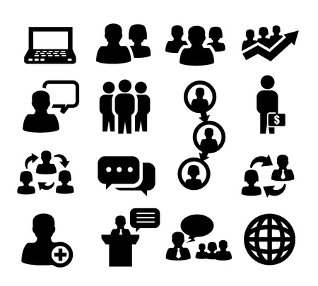 developing: people icons Illustration