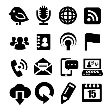 communication icons Stock Vector - 17039759
