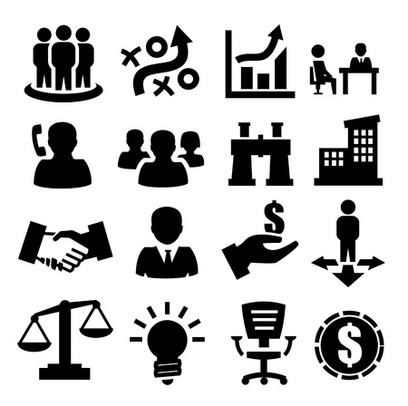technology agreement: business icons Illustration