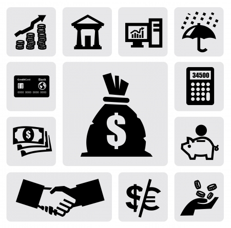 cash icon: Finance Icons Illustration