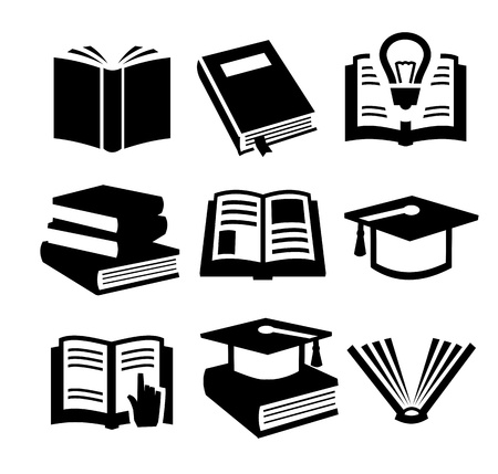 libro: iconos de libro establecido