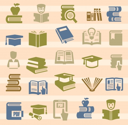 encyclopedias: book icons set