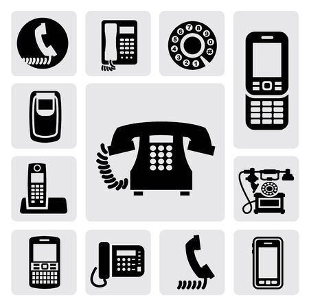 phone icons Stock Vector - 17223435