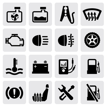 automotive repair: dashboard and auto icons