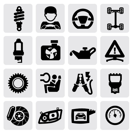 automotive repair: auto icon Illustration