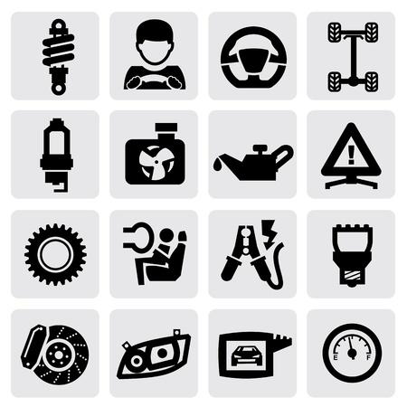 car dashboard: auto icon Illustration