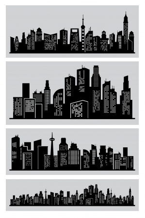 black city Stock Vector - 17241575