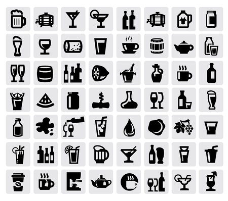 beverage icons Stock Vector - 17241571