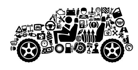 repuestos de carros: Iconos de automóviles
