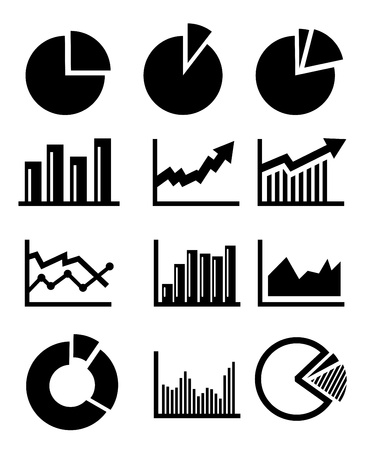 column chart: charts and graphs Illustration
