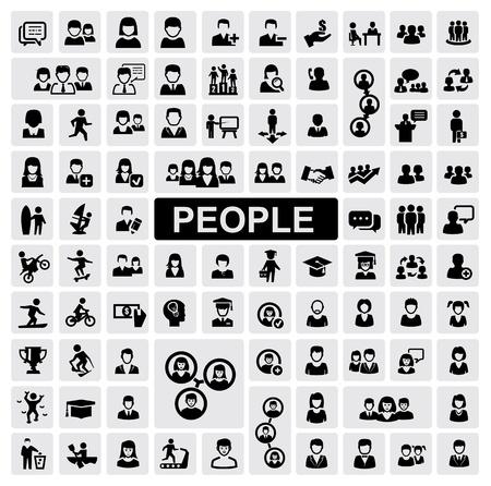 lidé: Ikony lidí