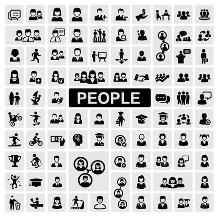 one people: people icons Stock Photo