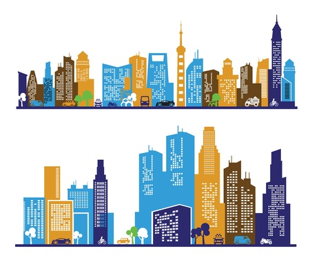 color city Stock Vector - 17274983
