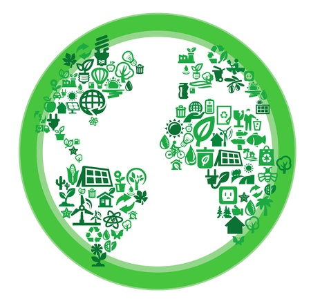 green eco world Vector