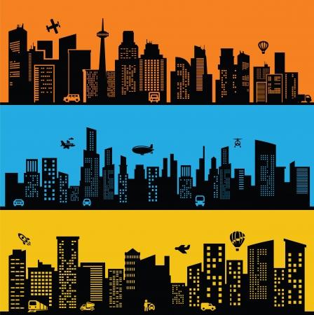 city scape: black city