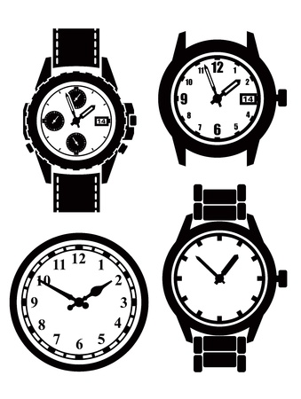 Watch and clock Stock Vector - 17315447