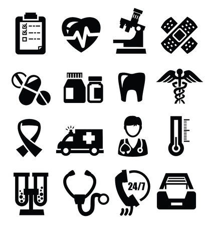 medical icons Stock Vector - 17353370