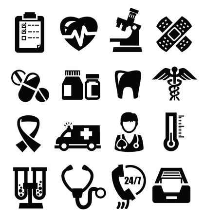 hjärtslag: medicinska ikoner