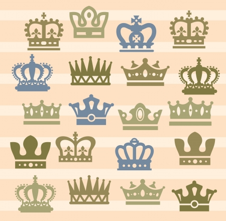 crown icons Stock Vector - 17388249
