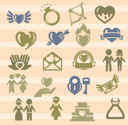 wedding icons Stock Vector - 17388244