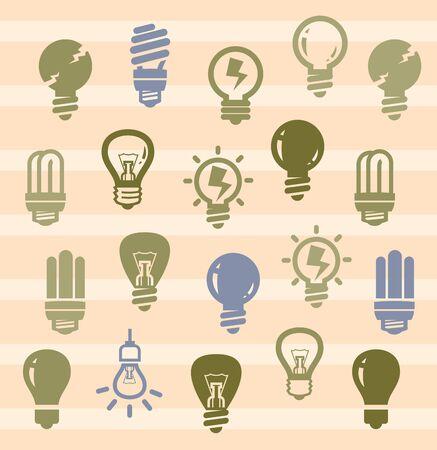 bulbs icons Stock Vector - 17379587