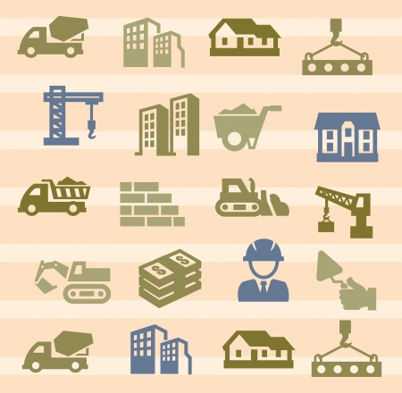 construction icons Stock Vector - 17388246