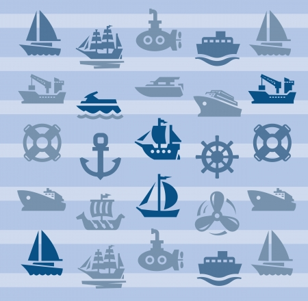boat and ship Stock Vector - 17388238