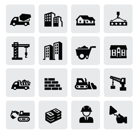 bulldozer: construction icons