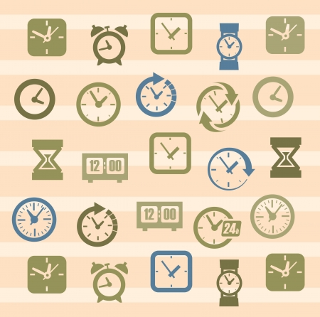 clocks icons Vector