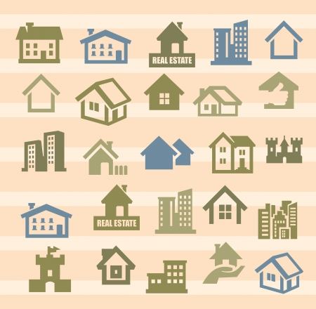 house icons Stock Vector - 17388232