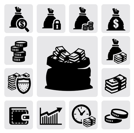 bag of money: money icons