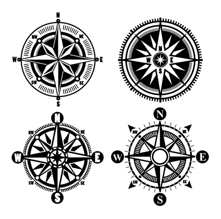 nautical compass: compass icons