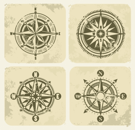 nautical star: vintage compasses