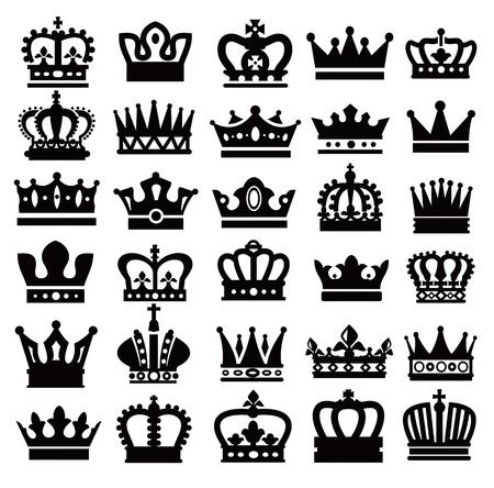 corona de rey: coronas negras