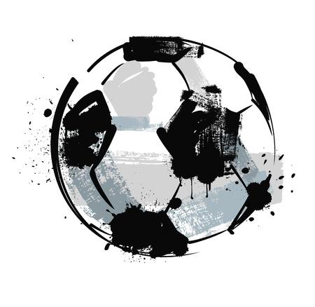 futbol soccer dibujos: bal�n de f�tbol del grunge Vectores