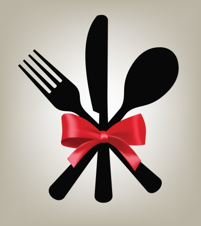 fork, knife and spoon Vector