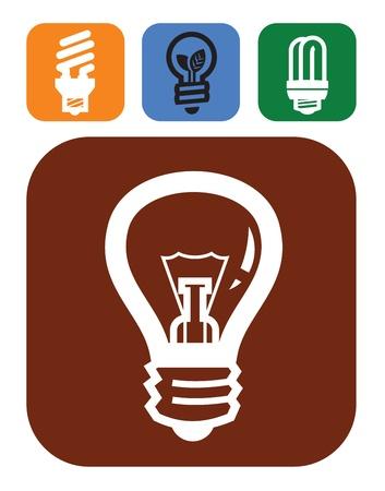 bulb icons Stock Vector - 17524316