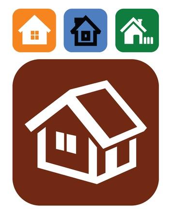 viviendas: iconos de la casa Vectores
