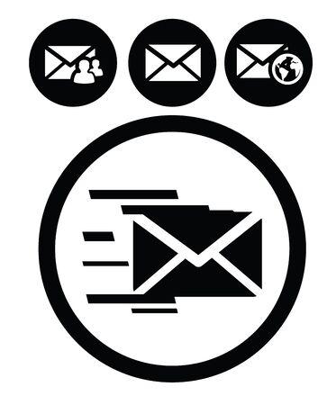 sobres de carta: iconos de correo Vectores