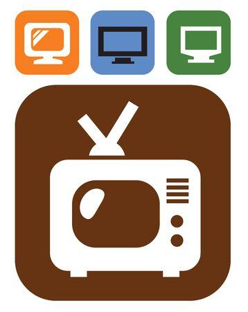 tv icon Stock Vector - 17525022
